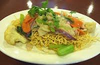 Crispy egg noodle